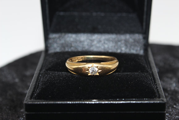 A 18ct diamond ring, size L, weighing 3.6g
