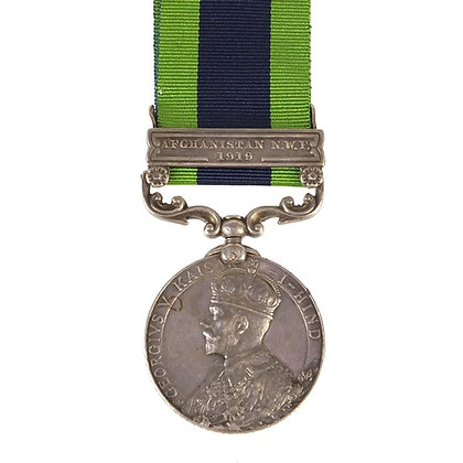 British military George V India General Service medal with Afghanistan N.W.F.191