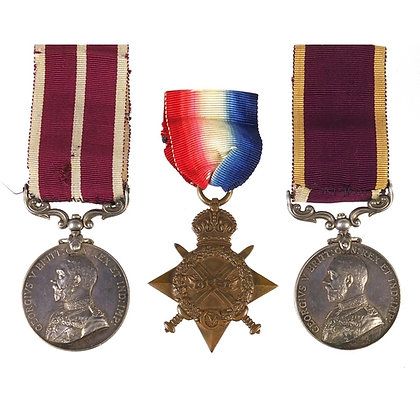 British military three medal group relating to R A Death etc