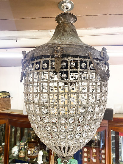 Antique style large 'pineapple' chandelier