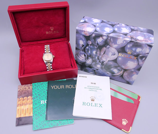 A boxed Rolex Oyster Perpetual ladies wristwatch
