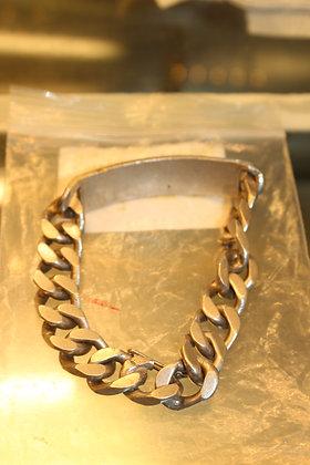 Solid silver mens I.D bracelet