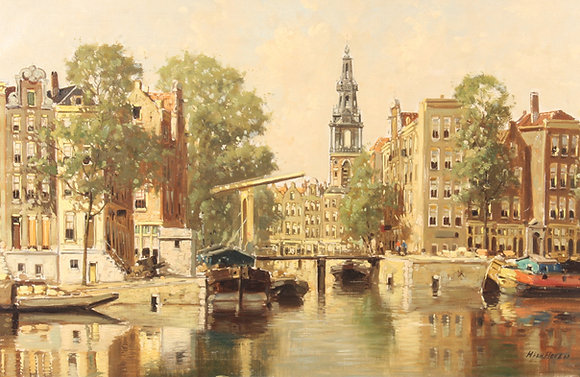 'H.Tem Hoven' early 20th century oil on canvas