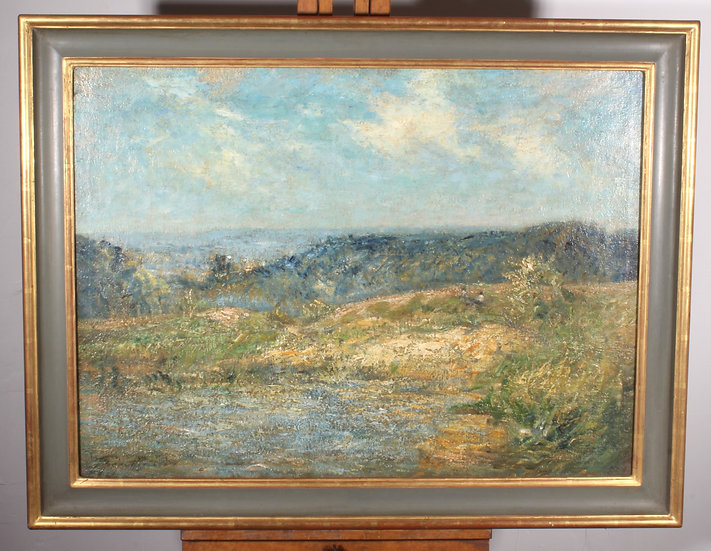 Cardiff landscape oil on canvas