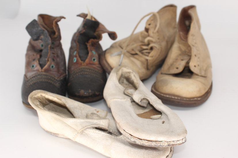 A selection of Victorian children's shoes