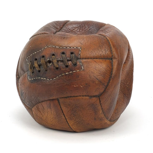 Antique style leather football