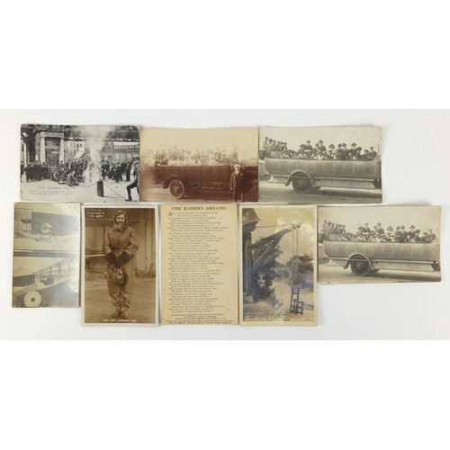 Early 20th century postcards, some black and white photographic