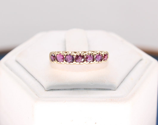 A 9ct gold & ruby ring, size M, weighing 1.8g