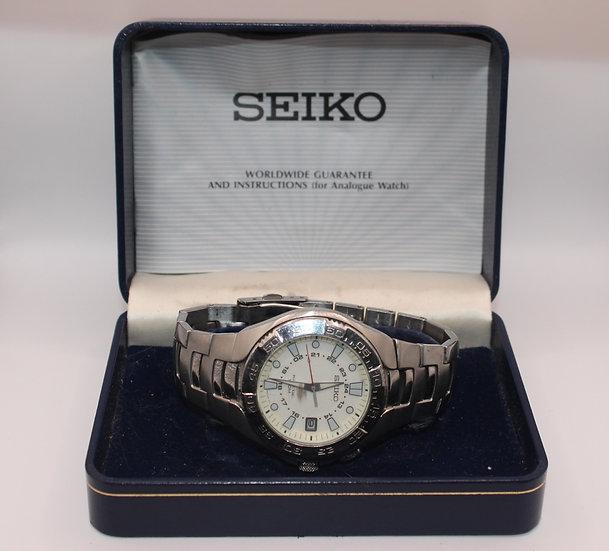 Men's Seiko Divers 5M62-0AP0 Kinetic Divers Watch - 100m