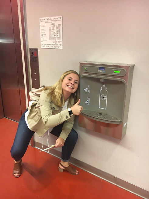 lucy and water bottle station.jpg