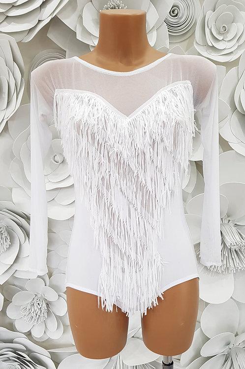 Body White Fabric Fringes