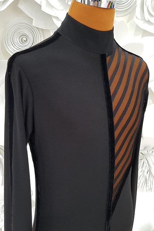 Camicia con rete a righe