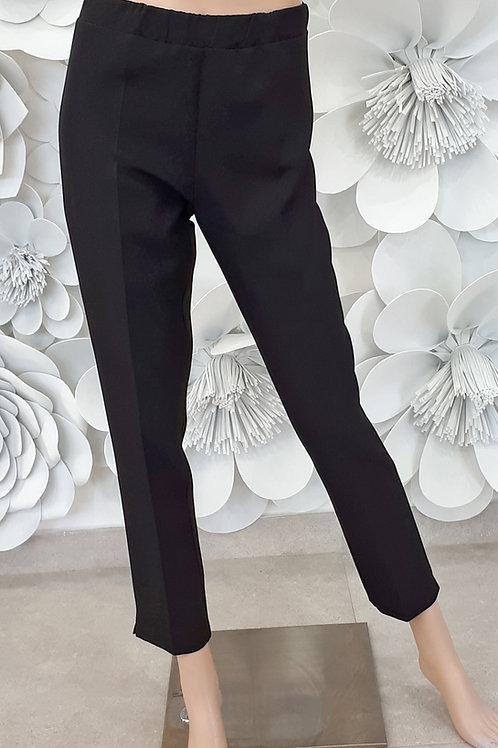 Pantalone con elastico in vita e strass taschino