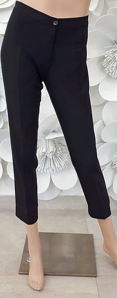 Pantalone elastico fascia laterale in raso