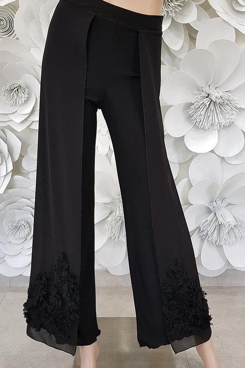 Pantalone b-stretch con pannello laterale decoro 2
