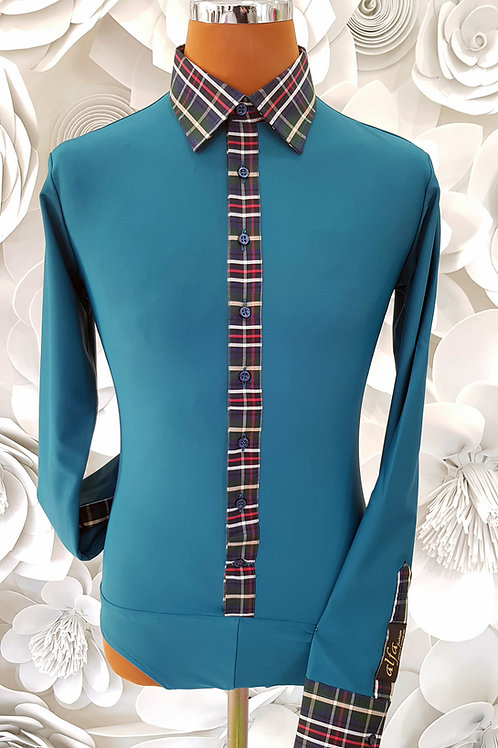 Camicia B-Stretch petrolio
