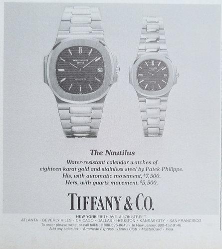 1981 Tiffany & Co Patek Philippe Nautilus Ad