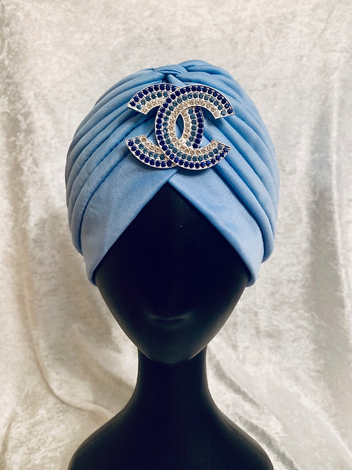 Turban with Detachable Brooch