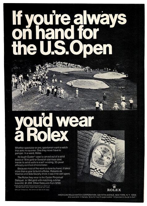 1969 Rolex Datejust Ad