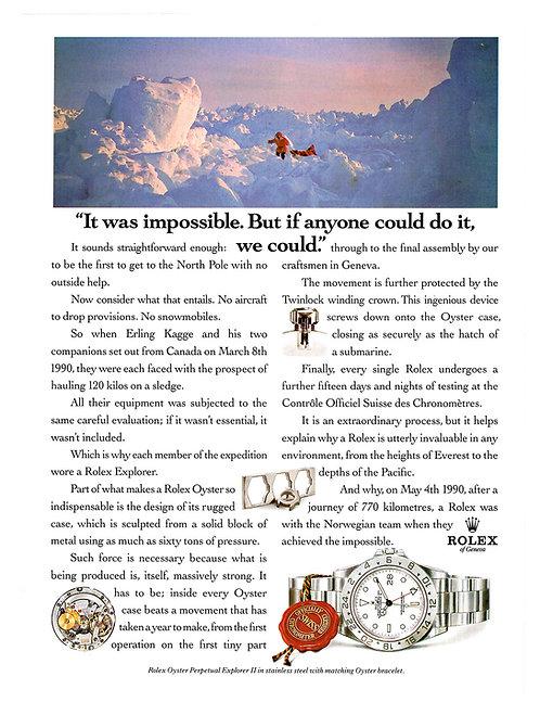 1994 Rolex Explorer II Ad