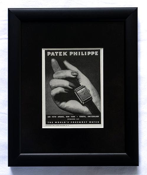 1944 Framed Patek Philippe Ad