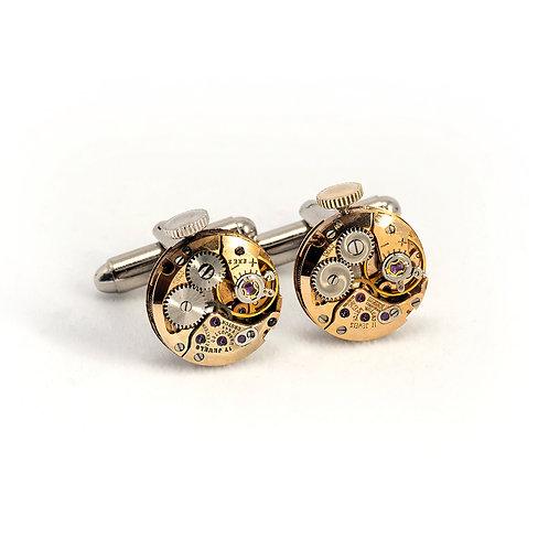 Croton Rose Gold Watch Movement Cuff Links