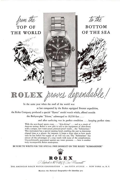 1965 Rolex Submariner Ad