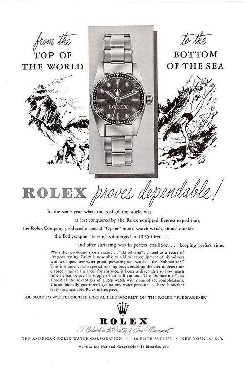 1965 Rolex Submariner Ad
