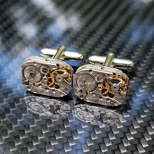Russian Watch Movement Cuff Links