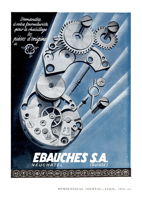 1954 Ebauches S.A. French Ad