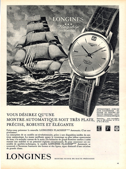 1961 Longines Flagship French Ad