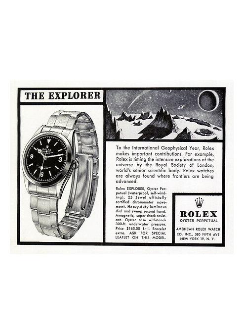 1958 Rolex Explorer Ad