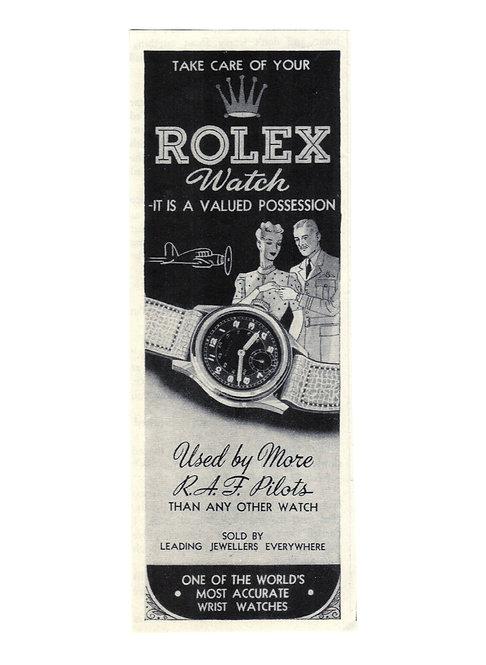 1943 Rolex R.A.F Ad
