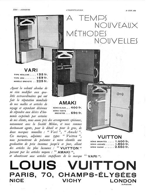 1933 Louis Vuitton Luggage French Ad