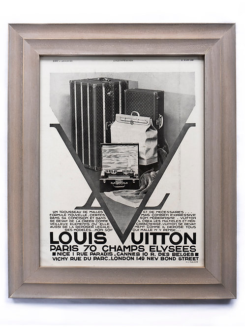1931 Framed Louis Vuitton French Ad