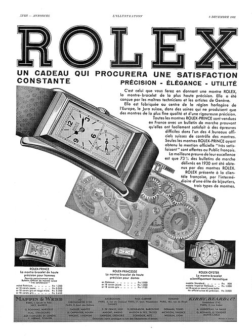 1932 Rolex Prince French Ad