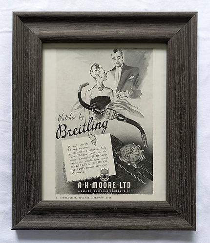1947 Framed Breitling Ad