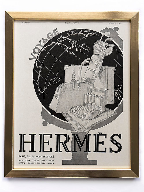 1931 Hermès Voyage French Ad