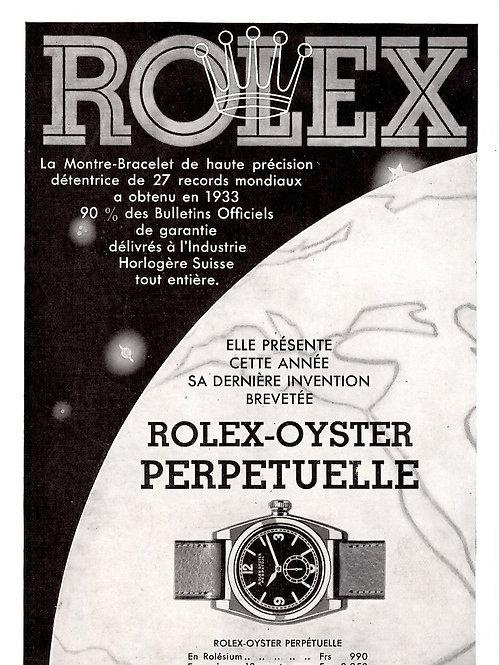 1934 Rolex French Ad