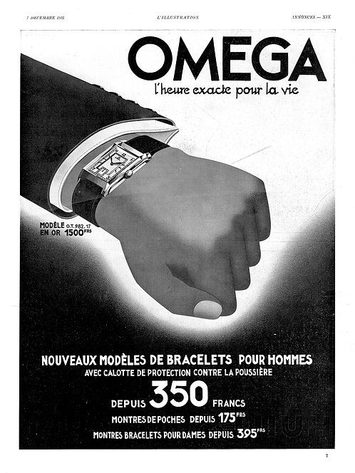 1935 Omega French Ad