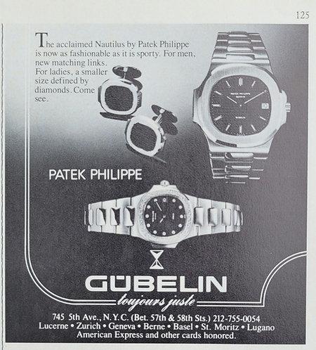 1982 Gūbelin Patek Philippe Nautilus & Cuff Links Ad