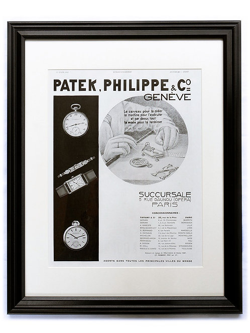 1933 Framed Patek Philippe French Ad