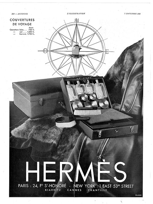 1931 Hermès Couvertures French Ad