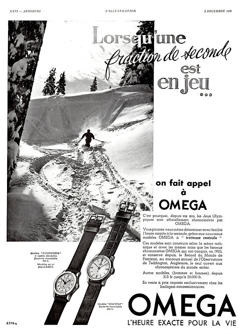 1938 Omega French Ad