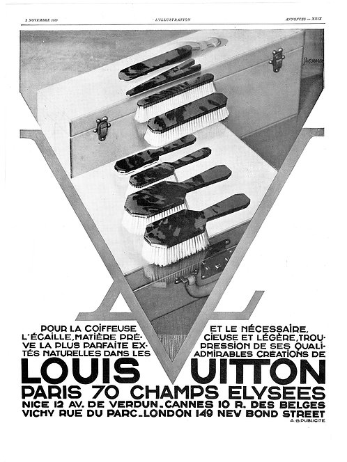 1929 Louis Vuitton French Ad