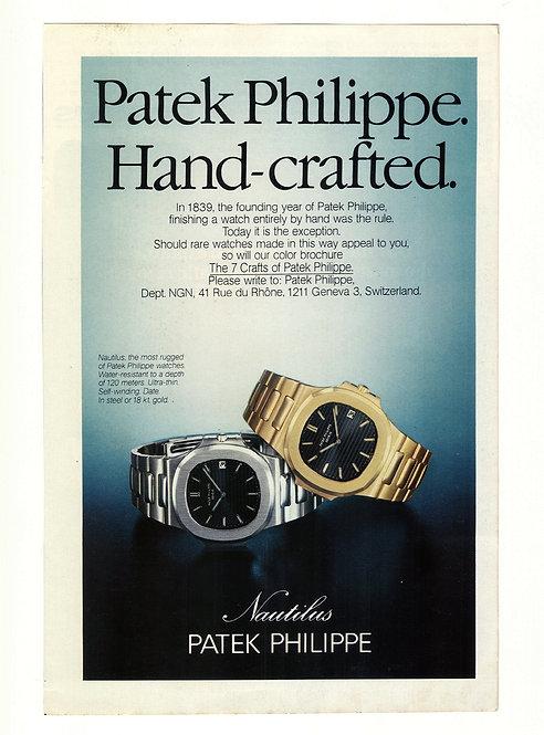 1979 Patek Philippe Nautilus Ad