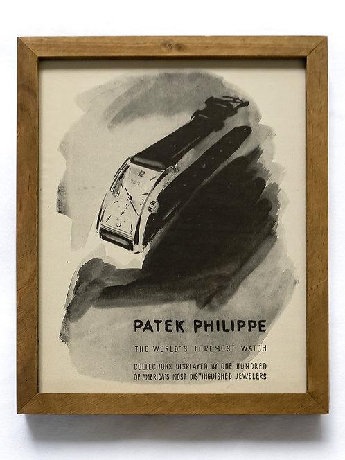 1951 Framed Patek Philippe Ad