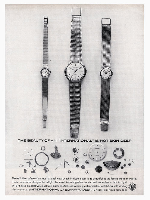 1962 IWC Watches Advertisement