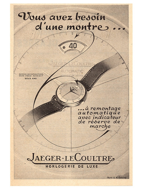 Jaeger LeCoultre Power Reserve Watch Advertisement
