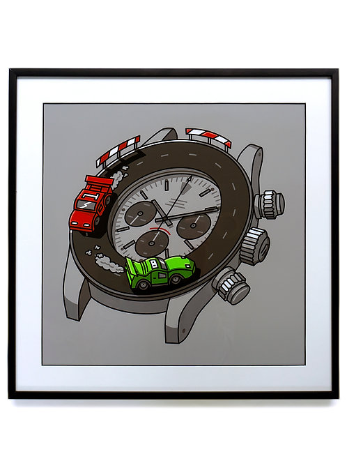 Watches and Pencils Framed Daytona Watch Print